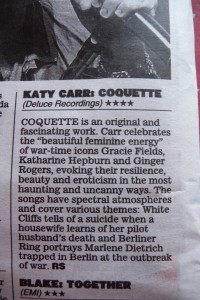 Katy Carr's 'Coquette' 4**** Daily Express Review