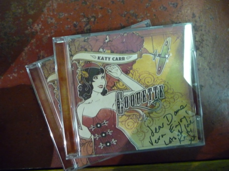 Coquette KC's new CD present for Dame Vera