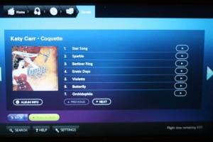 Katy Carr's album Coquette on British Airways inflight Entertainment Feb - Jun 2011