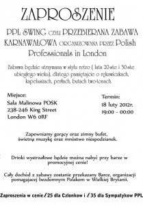 "Katy Carr is excited to play at Zabawa Karnawałowa, ""PPL Swing"" a 1920s / 30s event hosted by Polish Professionals in London"